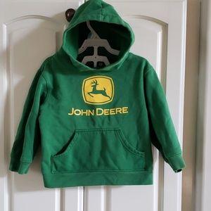 John Deere brand hoodie size 4T .